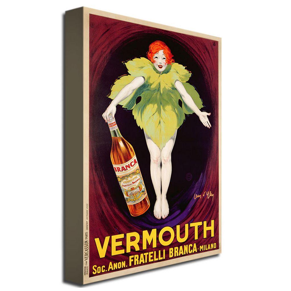 Fratelli Branca Vermouth, 1922 30'' x 47'' Canvas Art by Jean d'Ylen