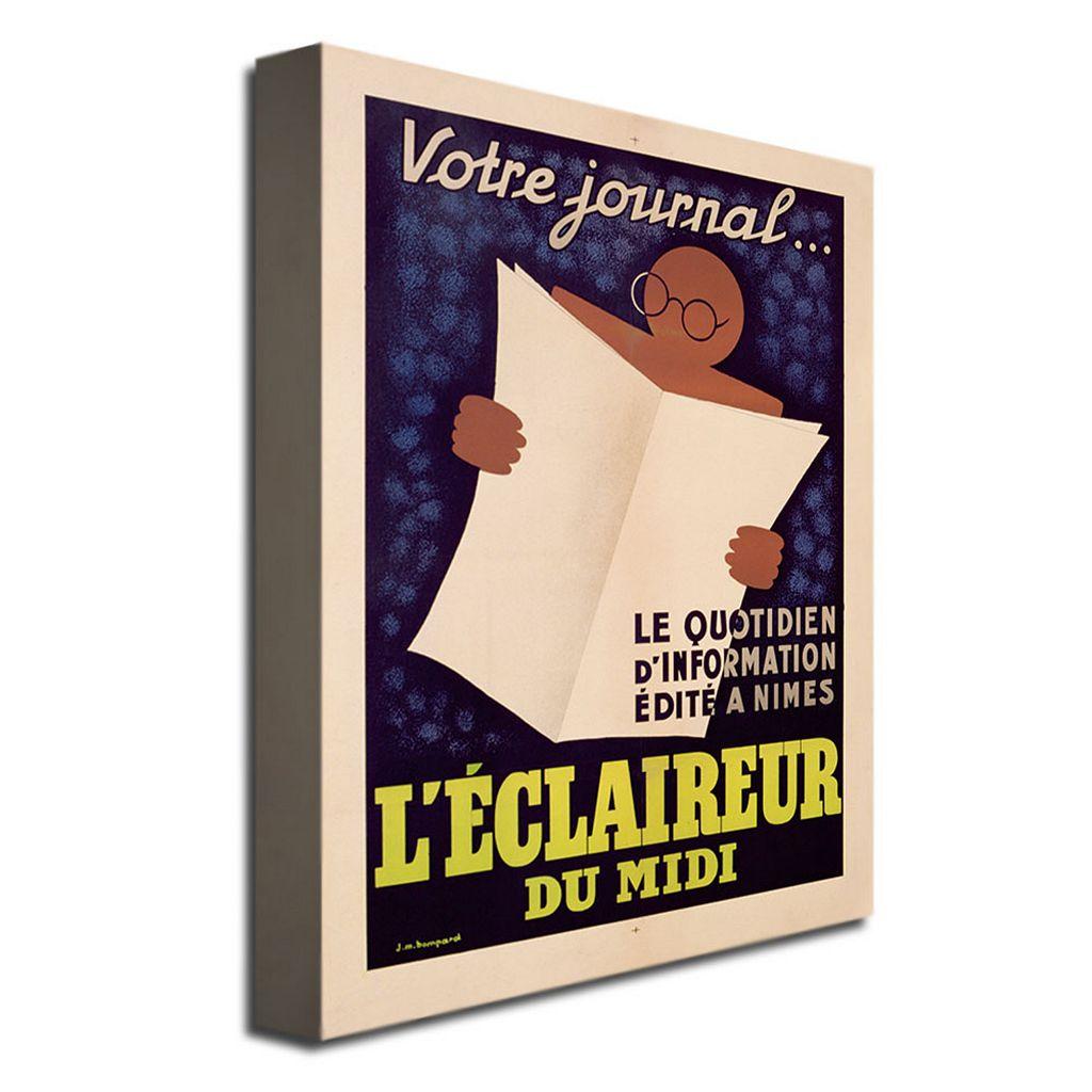 L'Eclaireur du Midi, 1939 18'' x 24'' Canvas Art by JM Bompard