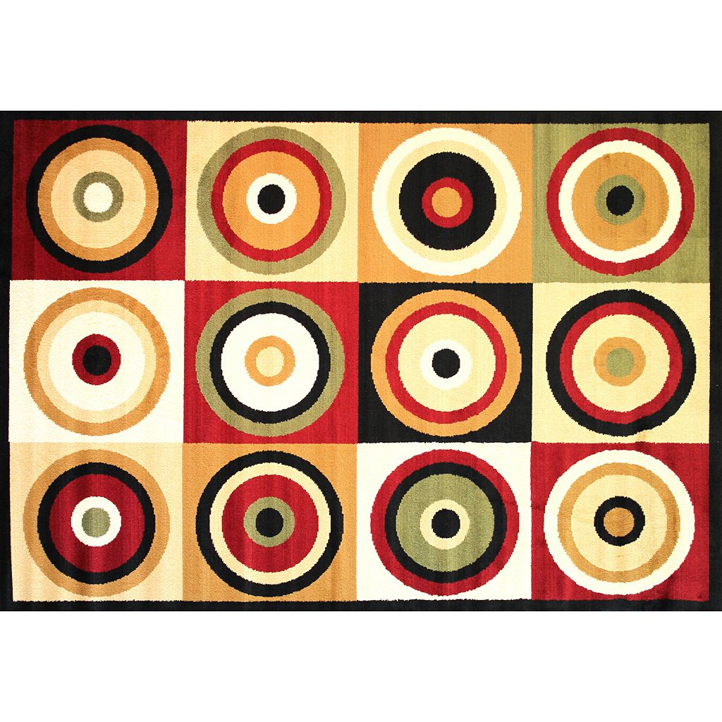 Infinity Home Dulcet Commerce Rings Rug - 3'3'' x 5'3''