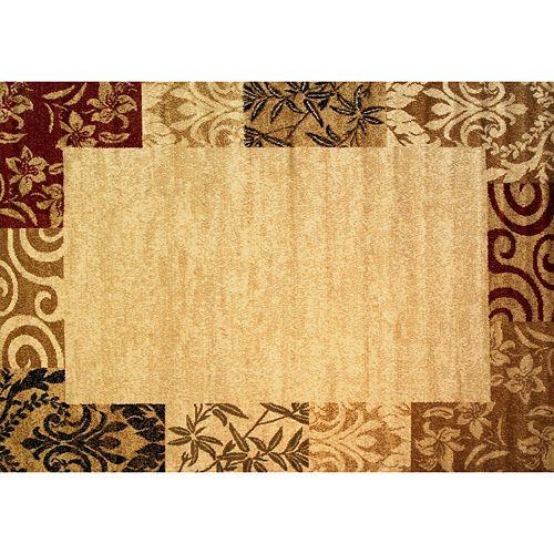 Infinity Home Dulcet Damask Frame Rug - 3'3'' x 5'3''