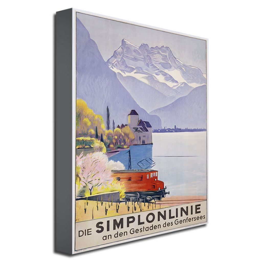 Die Simplonlinie 18'' x 24'' Canvas Art by Emil Cardinaux