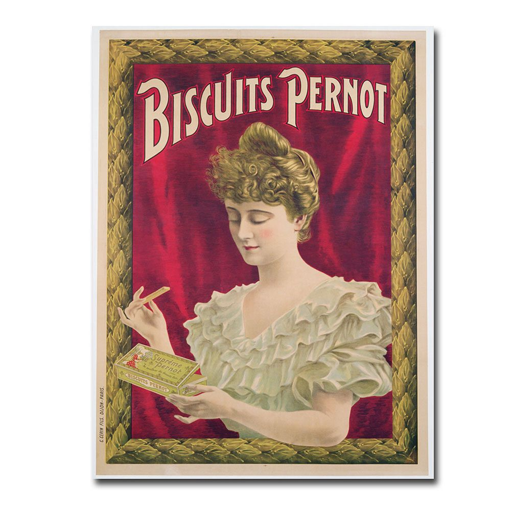 """""""Pernot Biscuits, 1902"""" 18"""" x 24"""" Canvas Art"""