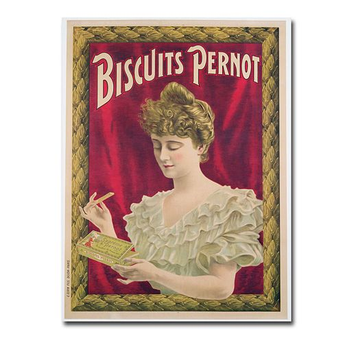 """Pernot Biscuits, 1902"" 24"" x 32"" Canvas Art"