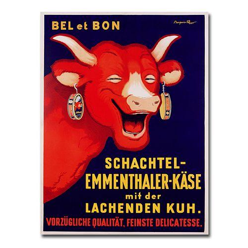 """Bel et Bon, 1929"" 24"" x 32"" Canvas Art by Benjamin Rabier"