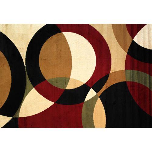 "Infinity Home Dulcet Bingo Circles Rug – 5′ x 7'2"""