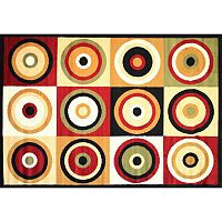Infinity Home Dulcet Commerce Rings Rug - 5' x 7'2''