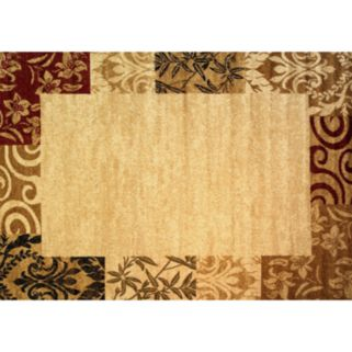 Infinity Home Dulcet Damask Frame Rug - 5' x 7'2''