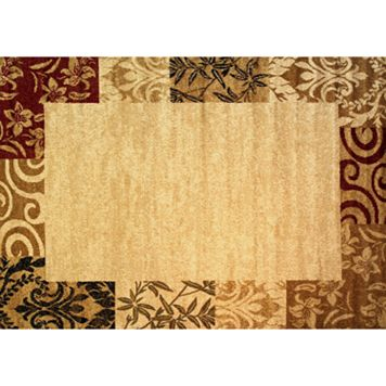 Infinity Home Dulcet Damask Frame Rug - 5' x 7'2''