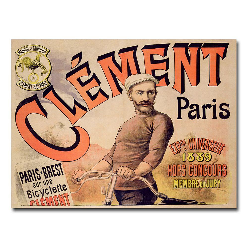 """Clement Bicycles, 1889"" 26"" x 32"" Canvas Art"