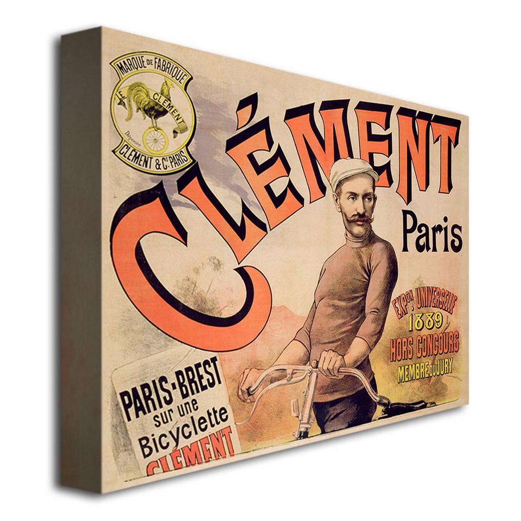 Clement Bicycles, 1889 26'' x 32'' Canvas Art