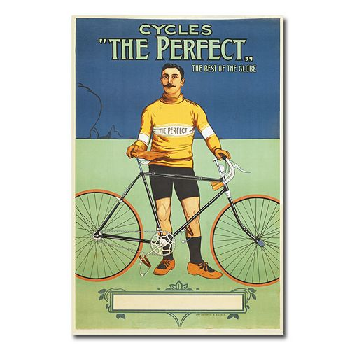 """The Perfect Bicycle, 1895"" 16"" x 24"" Canvas Art"