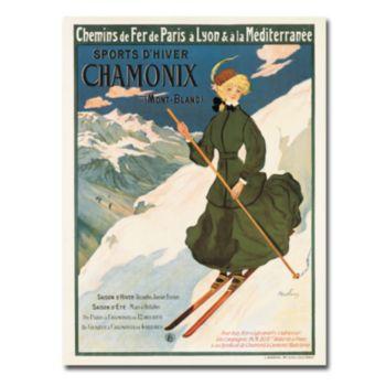 ''SNF Routes To Chamonix, 1910'' 18'' x 24'' Canvas Art