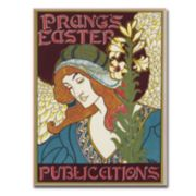 """Prang's Easters Publications, 1896"" 18"" x 24"" Canvas Art by Louis Rhead"