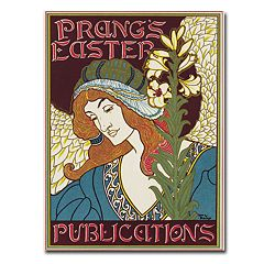 'Prang's Easters Publications, 1896' 18' x 24' Canvas Art by Louis Rhead