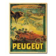 ''Peugeot Cars, 1908'' 35'' x 47'' Canvas Art by Francisco Tamagno