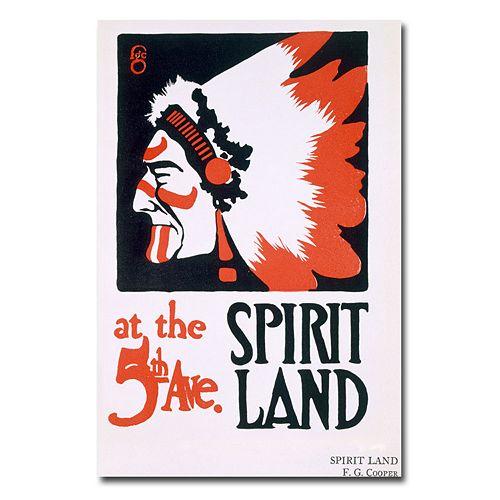 """""""Spirit Land"""" 30"""" x 47"""" Canvas Art by F.G. Cooper"""
