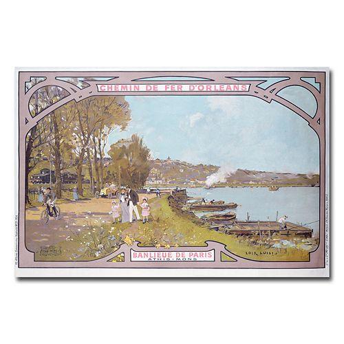 """""""Chemins de Fer d'Orleans, 1910"""" 16"""" x 24"""" Canvas Art by Luigi Loir"""