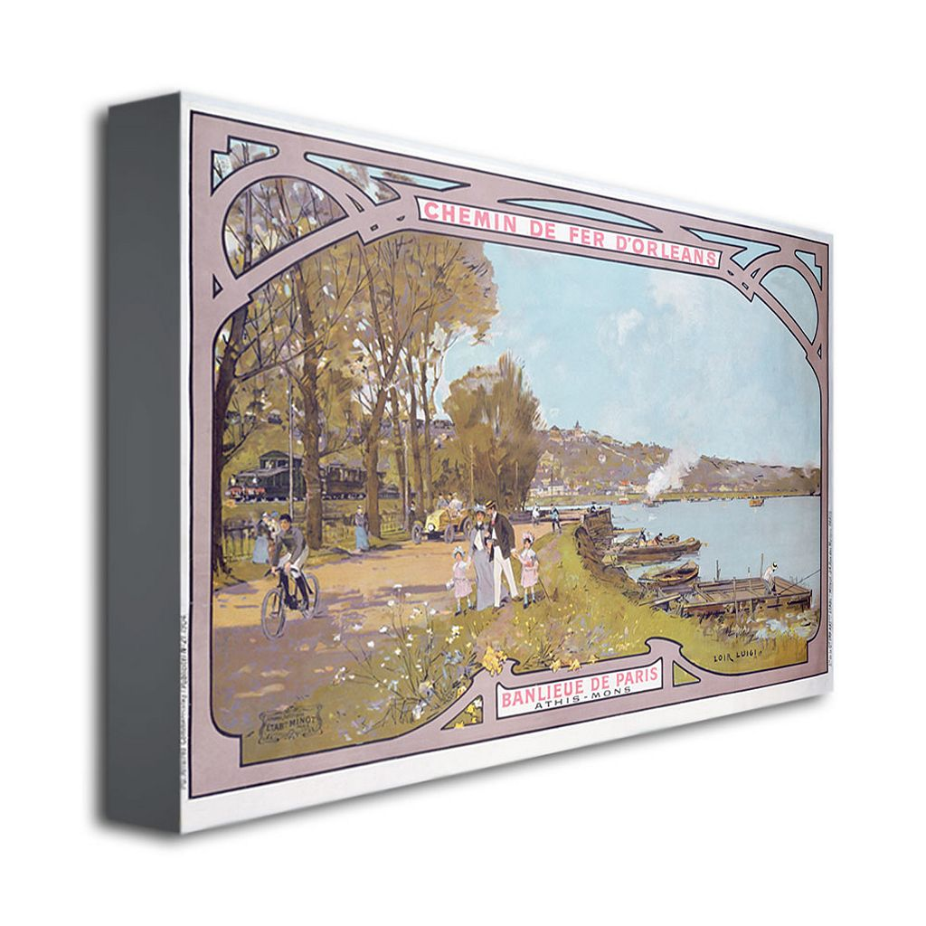 Chemins de Fer d'Orleans, 1910 16'' x 24'' Canvas Art by Luigi Loir