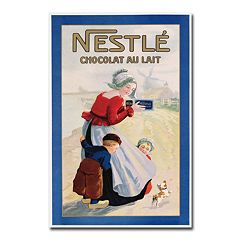 'Nestle Chocolat au Lait' 22' x 32' Canvas Art