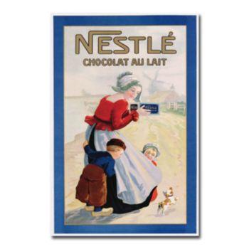 Nestle Chocolat au Lait 22'' x 32'' Canvas Art