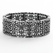Mudd Heart Filigree Stretch Bracelet