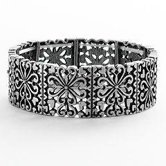 Mudd® Heart Filigree Stretch Bracelet