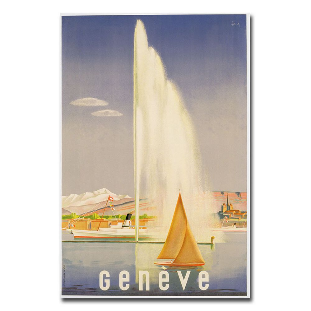 """Geneva, 1937"" 16"" x 24"" Canvas Art by Fehr"