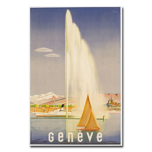 """Geneva, 1937"" 16"" x 24"" Canvas Art by Fehr"