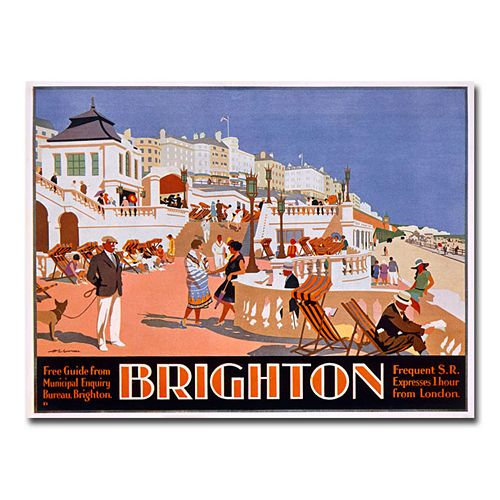 """Brighton"" 35"" x 47"" Canvas Art by Henry Gawthorn"