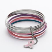 Kohl's Cares Candie's Silver Tone Bangle Bracelet Set