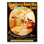 ''Pleasure Cruise On The Sea, 1904'' 35'' x 47'' Canvas Art by Felix Schwormstadt
