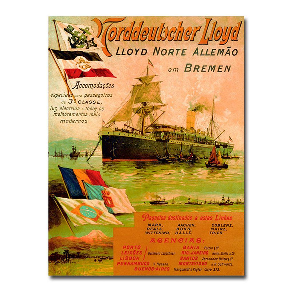 ''North German Lloyd, 1898'' 35'' x 47'' Canvas Art