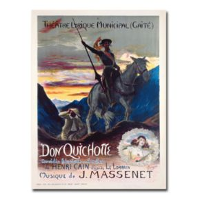 Don Quichotte, 1910 24'' x 32'' Canvas Art by Georges Rochegrosse