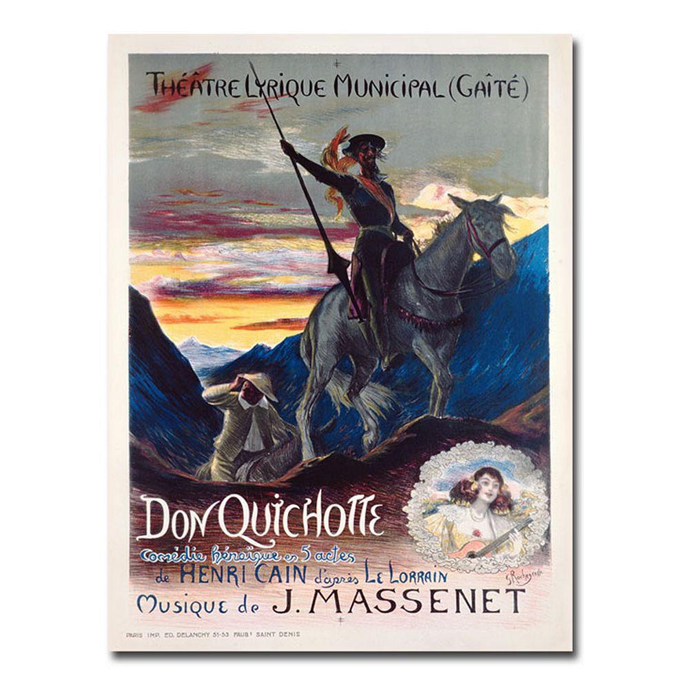 """Don Quichotte, 1910"" 35"" x 47"" Canvas Art by Georges Rochegrosse"
