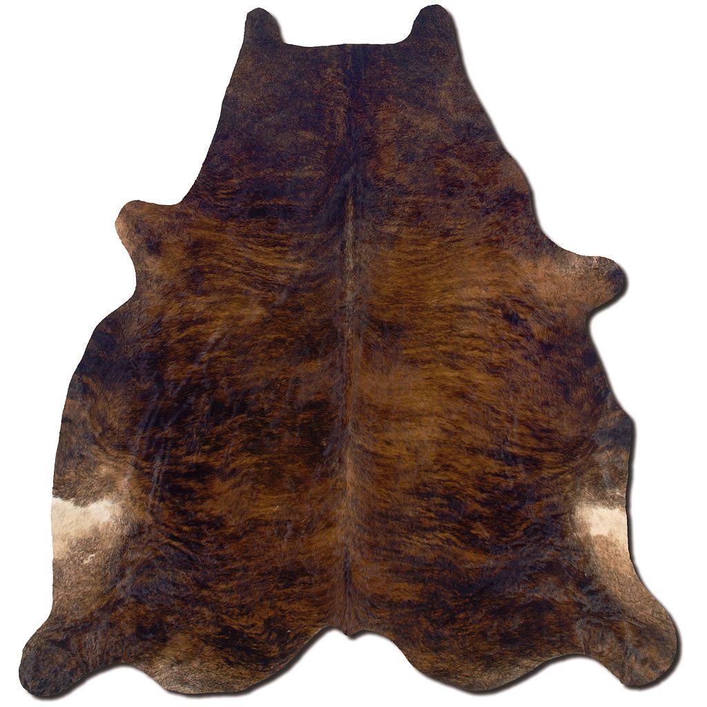 Linon Dark Brindle Full-Skin Cowhide Rug