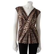 Dana Buchman Animal Pleated Top