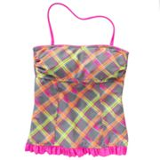 SO Plaid Bandeaukini Top