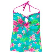 SO Floral Halterkini Top