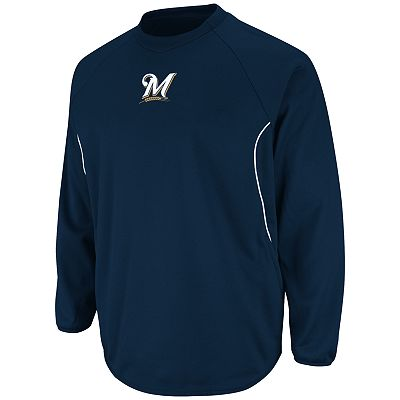 Majestic Milwaukee Brewers Therma Base Tech Fleece - Men