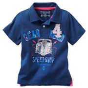 SONOMA life + style Gear Head Speed Shop Polo - Toddler