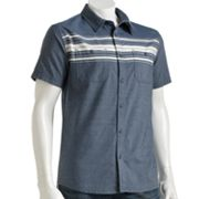 Hang Ten Horizontal-Striped Button-Down Shirt - Men