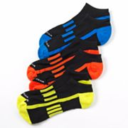 Tek Gear 3-pk. Neon No-Show Performance Socks - Boys 7-11