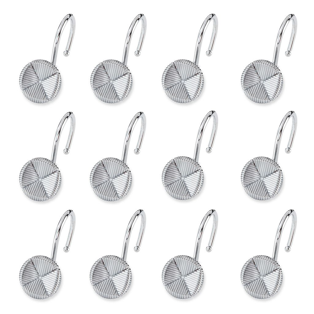 Elegant Home Fashions Forget Me Not 12-pk. Shower Curtain Hooks