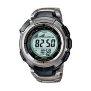 Casio Pro Trek Pathfinder Tough Solar Triple Sensor Titanium Digital Chronograph Atomic Watch - PAW1300T-7V - Men