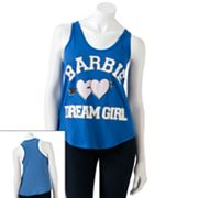 Jerry Leigh Barbie Dream Girl Striped Back Tank - Juniors