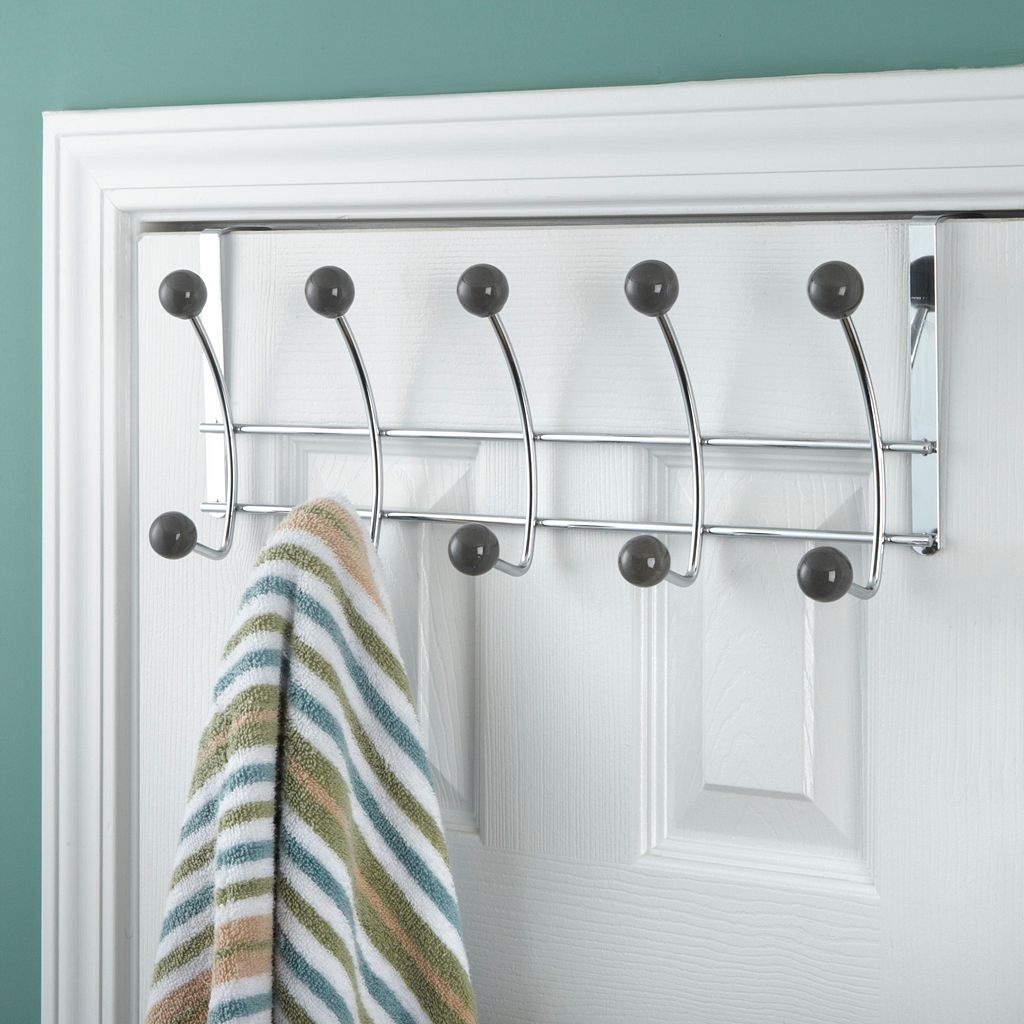 Elegant Home Fashions Over-The-Door 5-Hook Metal Hanger