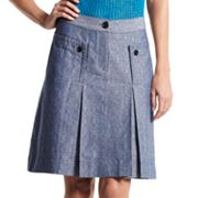 Derek Lam for DesigNation Pleated Chambray Skirt