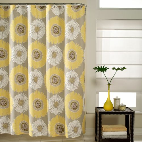 M. Style Floral Bloom Fabric Shower Curtain