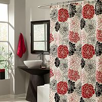 m.style Full Bloom Floral Fabric Shower Curtain