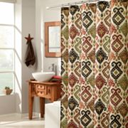 M. Style Southwest Ikat Fabric Shower Curtain
